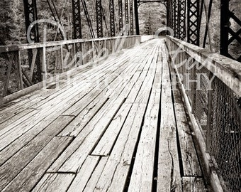 O and W Bridge Black and White - 16x24 Photograph