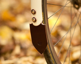 Bicycle Mud Flap - Leather - Road Bike Style