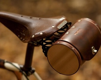 Seat Barrel Bag - Leather Bicycle Saddle Bag