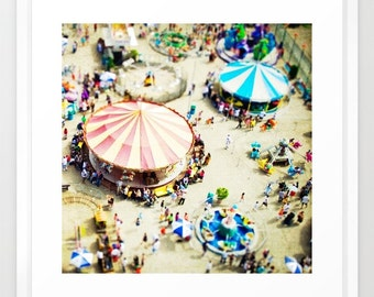 Carnival Photography // Nursery Wall Art // Coney Island Photography, Nursery Decor // Carousel Photography - Carnivale