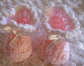 Pretty Pink Baby Booties