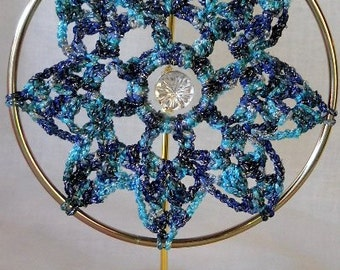 Blue and Silver Suncatcher
