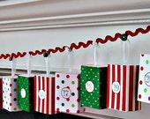 Christmas Advent Calendar matchbox garland