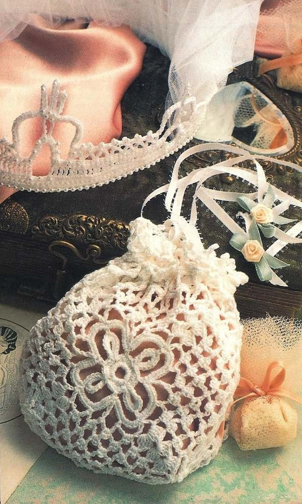 Free Crochet Wedding Bag Pattern : Robbie Overby on Etsy