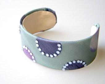 Necktie Cuff Bracelet Seafoam Cuff Bracelet Swarovski Cuff Bracelet Lavender Dot Bracelet Dot Cuff Bracelet Periwinke Dot Bracelet Tie Cuff