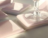 Fused Glass Coaster 6 - Prettiest Pale Pink
