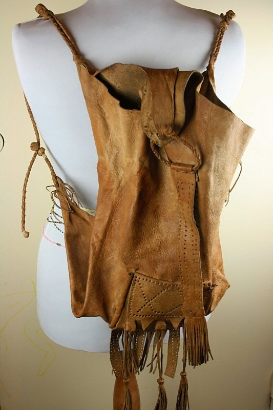Shaman Bag African Medicine Bag In Goatskin Leather