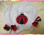 Ruffled Ladybug Diaper Cover - Bloomers