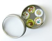 Woodland Friends.. set of 5 magnets in gift tin