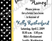 Bride found her Honey Bee - 5x7 Bridal Shower Invitation Set of 10 includes Envelopes