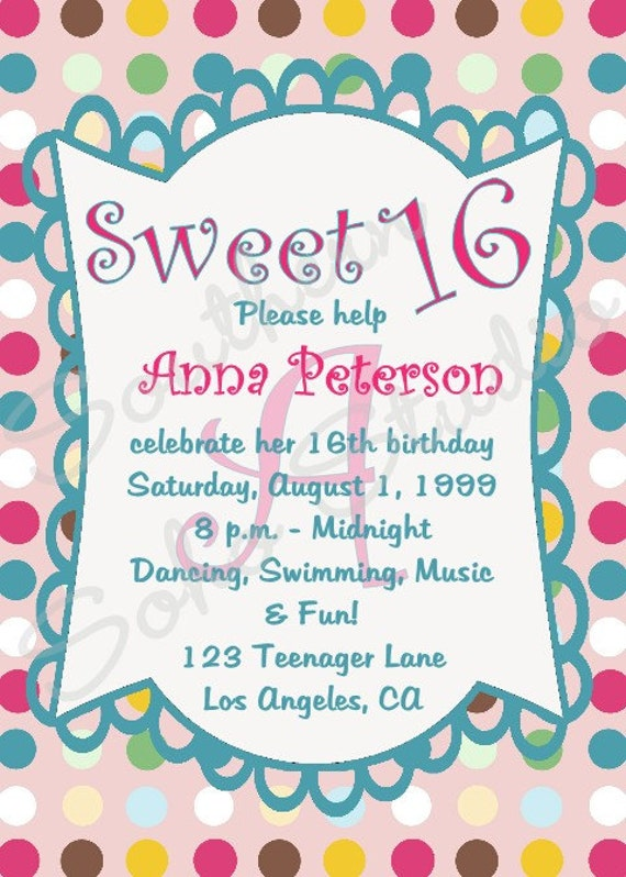 16 Birthday Invitation Wording – What to Put on a Birthday Invitation