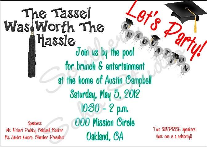 Graduation Party Invitation Templates with great invitation layout