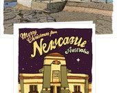 Five newcastle Christmas cards