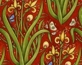 Oceanica Garden Red - 1/2  YD - FabricFascination