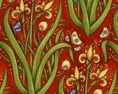 Oceanica Garden Red - 1/2  YD - FabricFascination