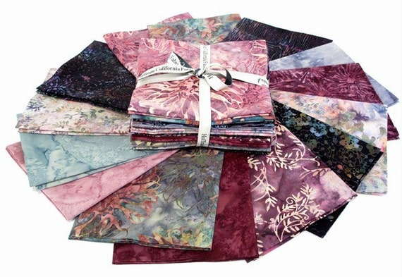 Rosehips Hand-Dyed Batiks - 14 Fat Qtr Bundle