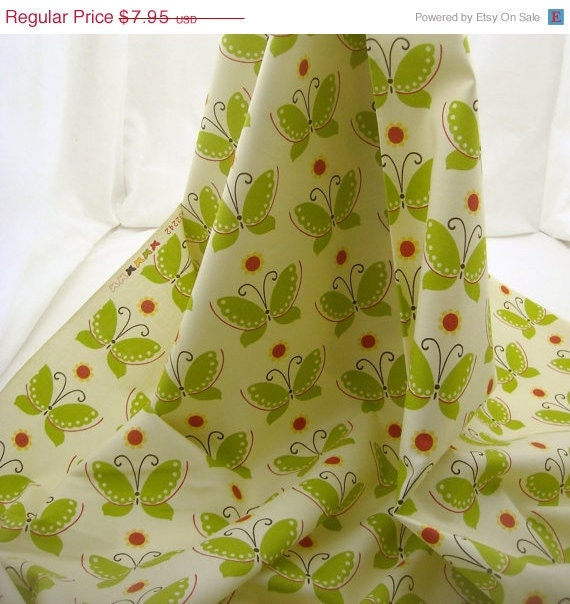 Make Room 4 the NEW Cotton Fabric Vanilla Moda Freebird Butterfly - 1 YD