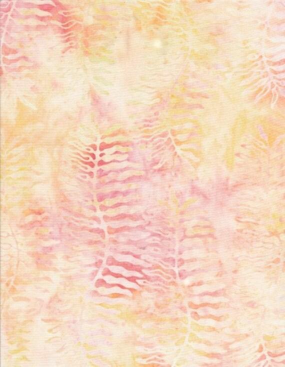 Batik Fabric: Tonga Taffy Batik - Peach - 100% Cotton - 1 YD