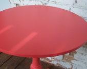 Sockeye Salmon - Round Vintage Table RESERVED FOR SARAH