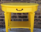 Happy Round Table in Sunflower Yellow