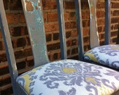 Pair Of Vintage Distressed Chairs