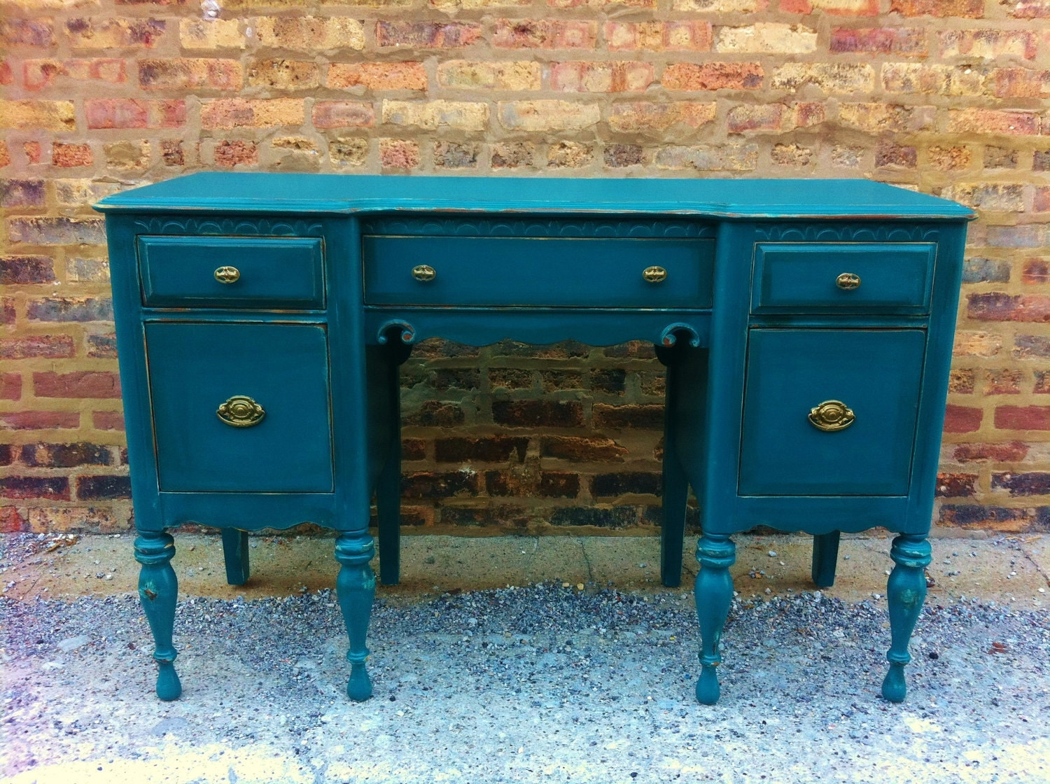 Vintage Desk in a Perfect Teal for MOLLY