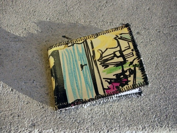 Recycled Painting Wallet: number 3