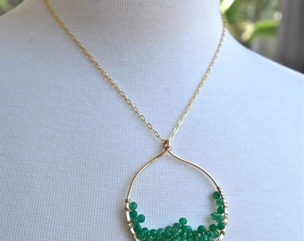 Green Earth Gold Necklace