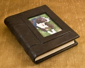 Small Leather Notebook with Custom Photo Imbed