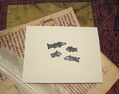Four Fishes Blank Card