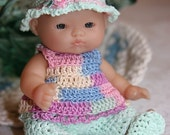 PATTERN Crochet 5 inch Berenguer Baby Doll Pastel Set Play in the Park