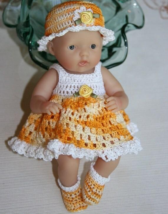 PDF PATTERN Crochet 7.5 inch Berenguer Baby Doll Sundress Full Skirt