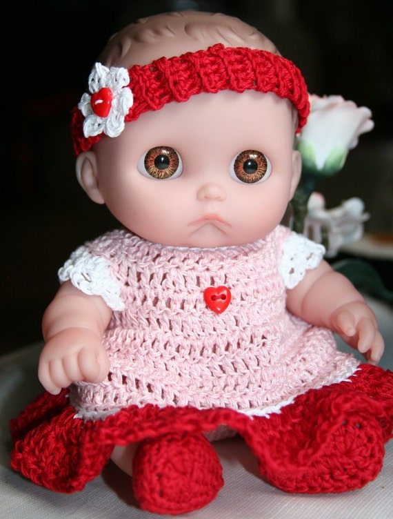 PDF PATTERN Crochet 8.5 inch Lil Cutesies Berenguer Doll Pattern Set Thread