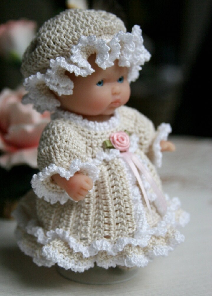 Pdf Pattern Crochet 5 Inch Berenguer Baby Doll Victorian Dress