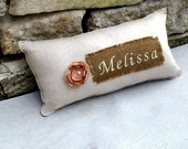 Custom Personalized Shabby Chic Pillow