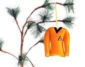 Star Trek Commander Shirt Christmas Ornament- Gold Felt