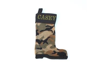 Camo Boot Christmas Stocking