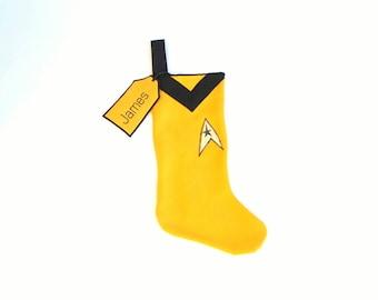 Star Trek  Christmas Stocking Gold Commander