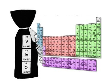 V I No Periodic Table Wine Gift Bag