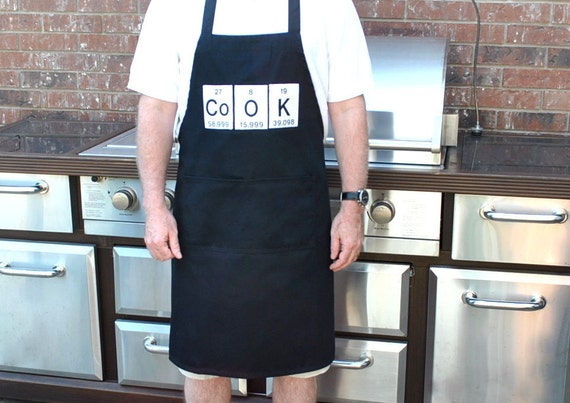 Cook Apron Periodic Table   Elements-adjustable with pockets
