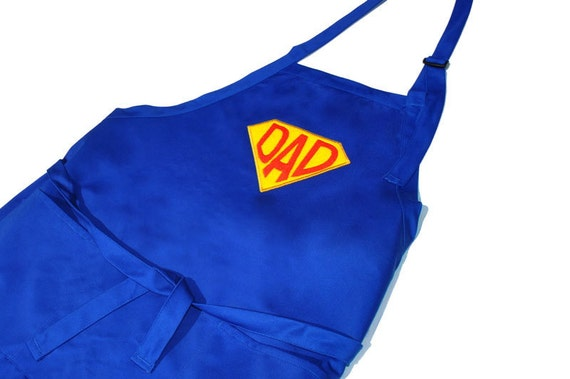 Super Dad  Apron Men's Embroidered Full Apron Adjustable with Pockets