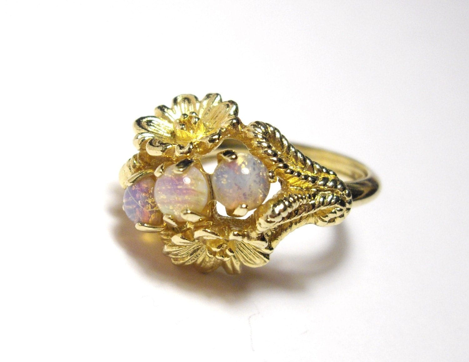 Vintage Avon Faux Fire Opal Ring
