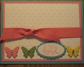 Butterfly Thank You Handmade Thinking of You Friend Sister Mom Daughter Stampin Up
