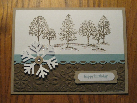 Lovely Tree Christmas Birthday Thinking of You Dad Brother Son Friend handmade Stampin Up card