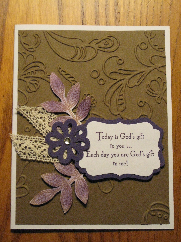 Religious Birthday Handmade Card God S Gift Friendship