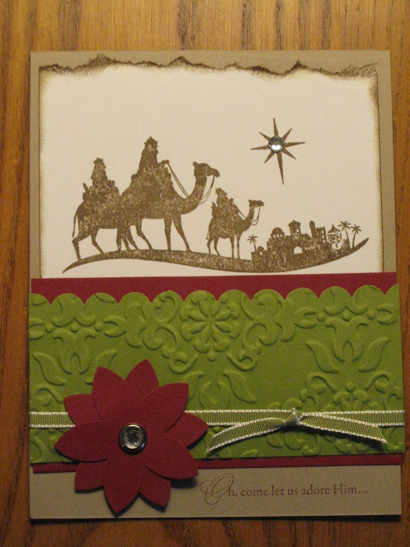 Christian Christmas Handmade Card Bethlehem by stampinmemories
