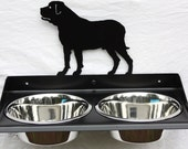 Elevated Dog Feeder for Mastiff. Wall Mount Design