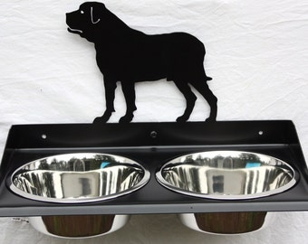 Elevated Dog Feeder for Mastiff. Wall Mount Design