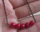 Berry Red Necklace