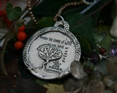 Jimi Hendrix Quotation Handmade Necklace Pendant Pendant in Sterling Silver or Bronze